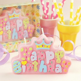 Banner Candle (Pink)