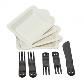 Set of 4 Plates and Forks