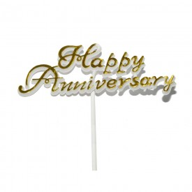 Happy Anniversary Cake Tag