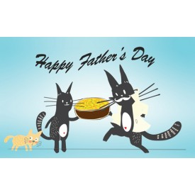 'Happy Father's Day - Father Son' Personalised Card