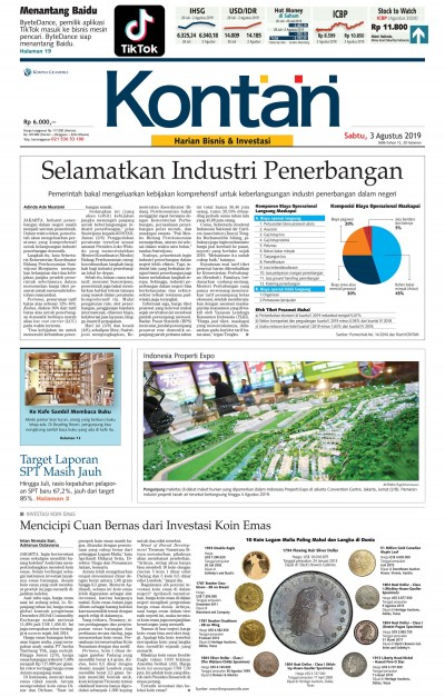 Kontan Harian - 03 Agustus 2019