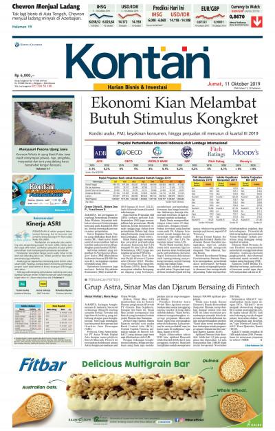 Kontan Harian - 11 Oktober 2019