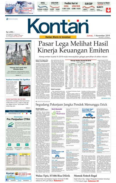 Kontan Harian - 01 November 2019