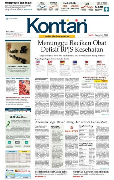 Kontan Harian - 01 Agustus 2019