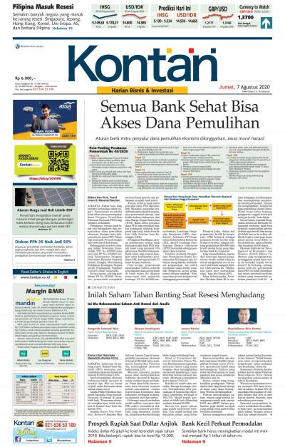 Kontan Harian - 07 Agustus 2020