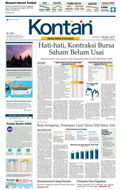 Kontan Harian - 04 Oktober 2019