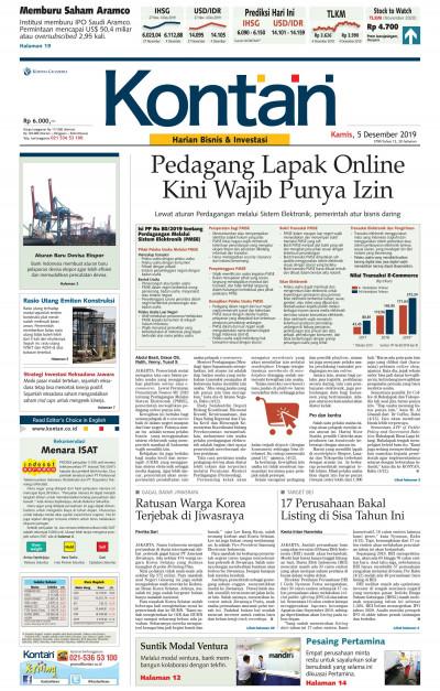 Kontan Harian - 05 Desember 2019