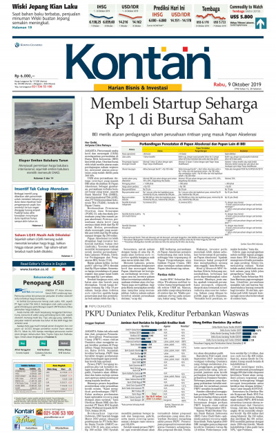 Kontan Harian - 09 Oktober 2019