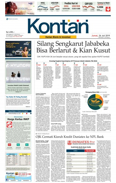 Kontan Harian - 26 Juli 2019