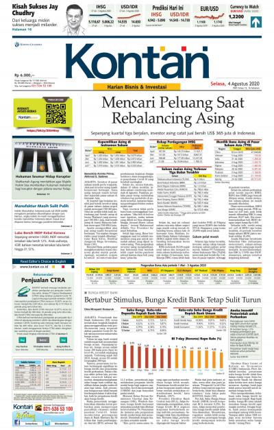 Kontan Harian - 04 Agustus 2020