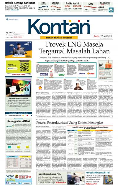 Kontan Harian - 27 Juli 2020