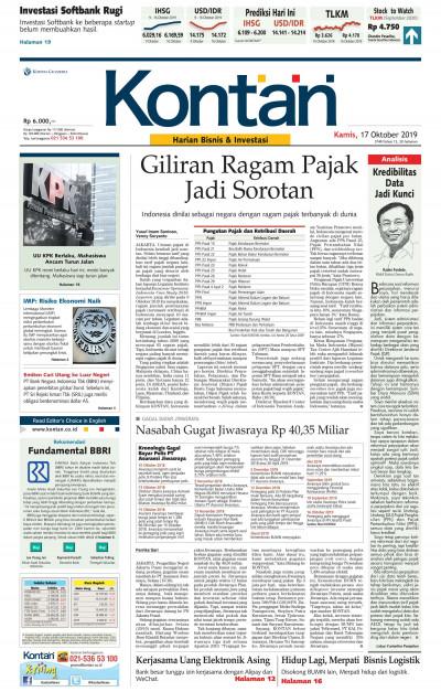 Kontan Harian - 17 Oktober 2019