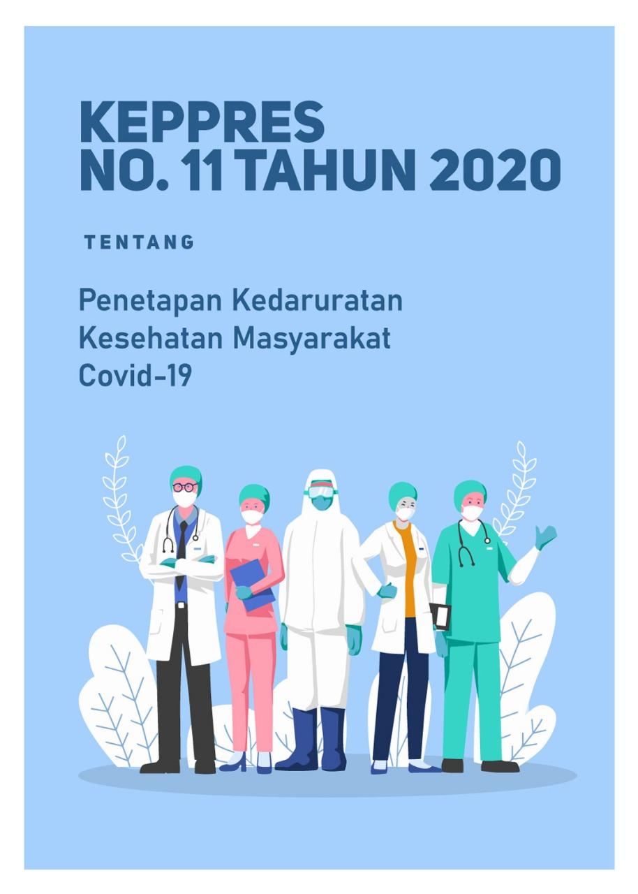 Keppres Penetapan Kedaruratan Kesehatan Masyarakat COVID-19 (Gratis)