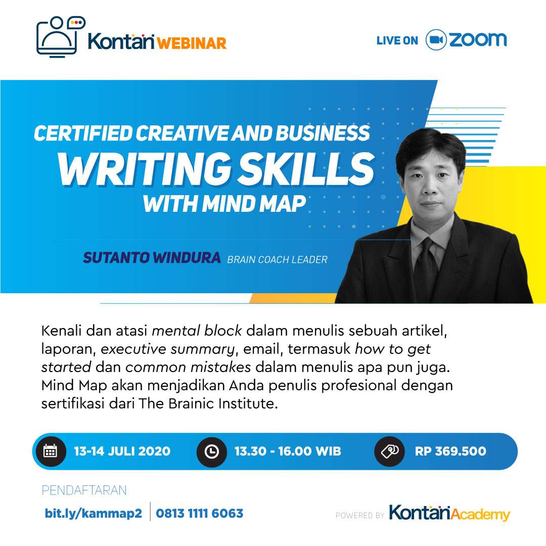 Certified Business & Creative Writing Skills with Mind Map