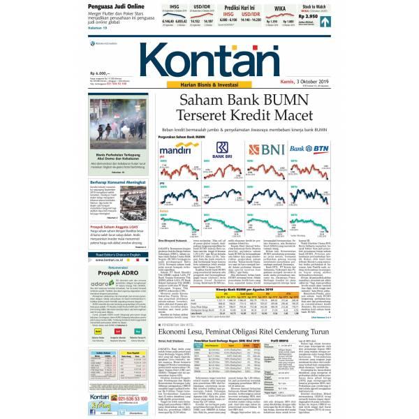 Kontan Harian - 03 Oktober 2019