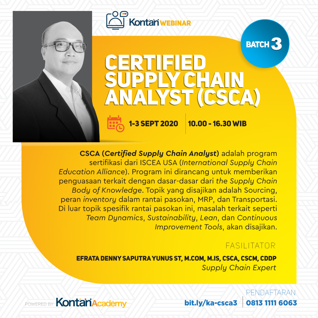 Certified Supply Chain Analyst (CSCA) Batch 3