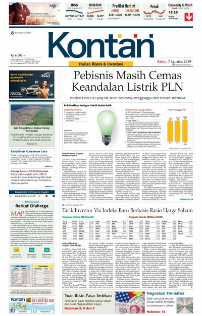 Kontan Harian - 07 Agustus 2019