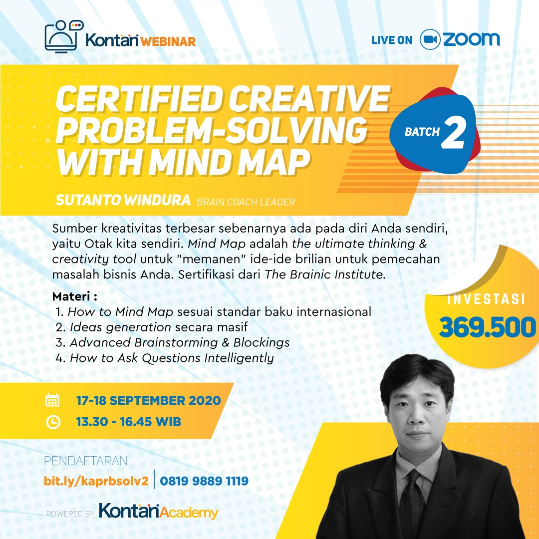 Certified Creative Problem-Solving with Mind Map