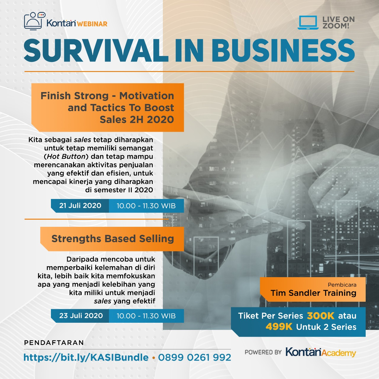 Survival in Business : Finish Strong - Motivation and Tactics To Boost Sales 2H 2020