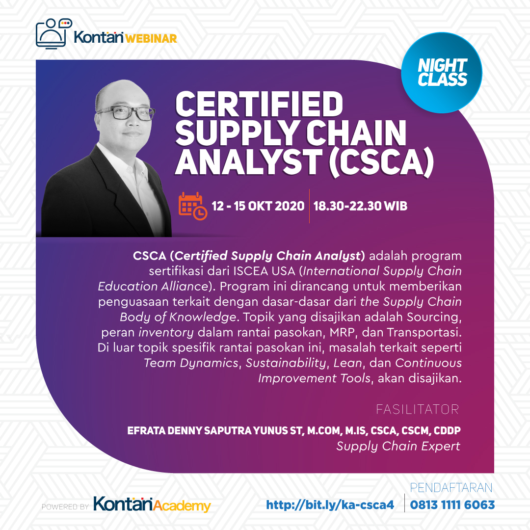 Certified Supply Chain Analyst (CSCA) Batch 4