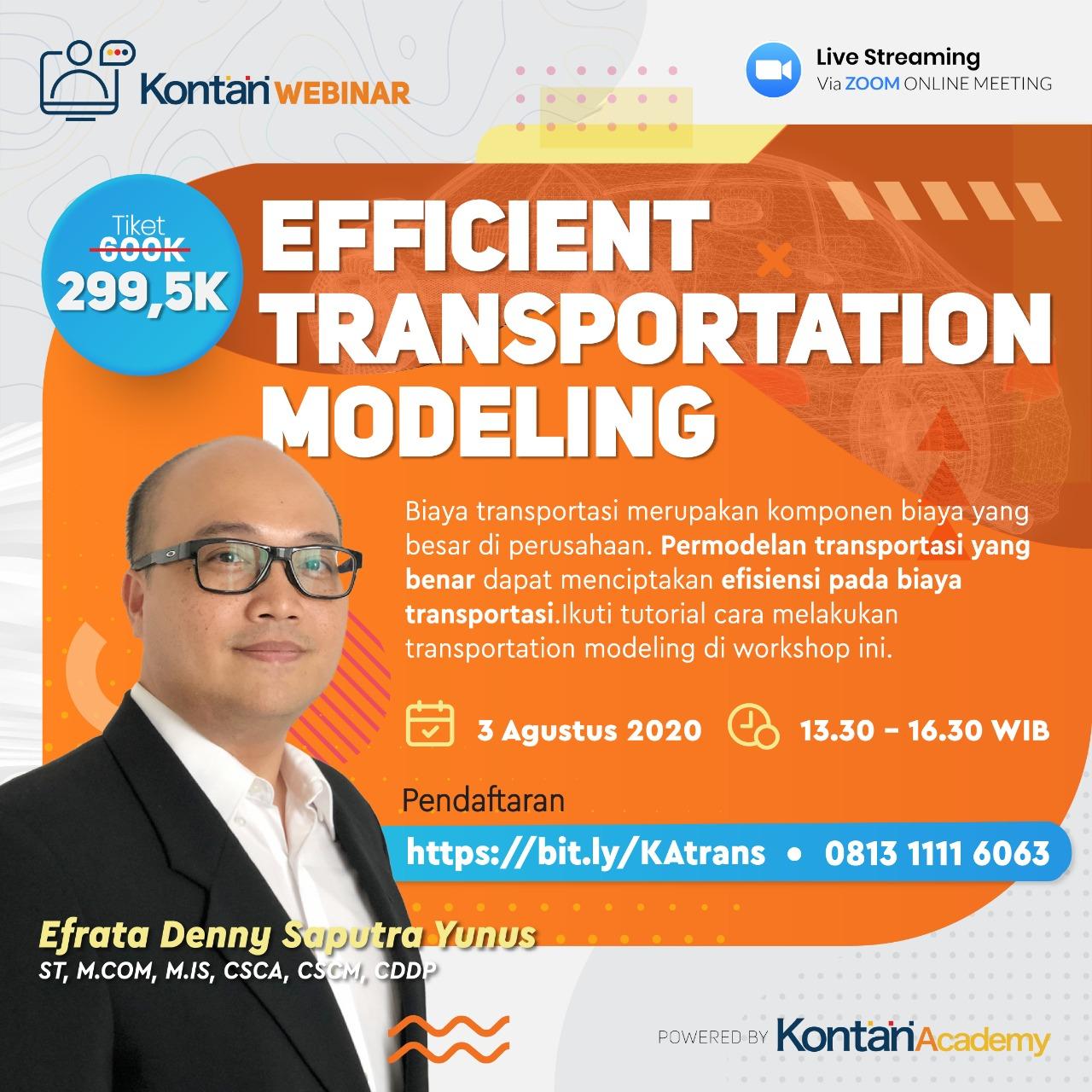 Efficient Transportation Modeling