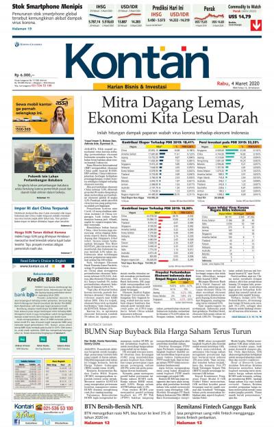 Kontan Harian - 04 Maret 2020