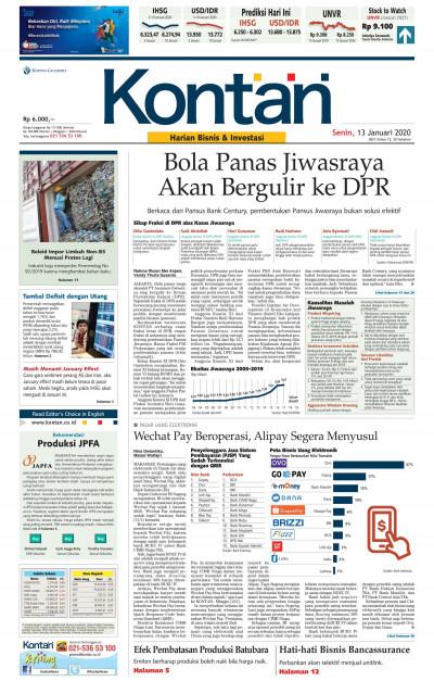 Kontan Harian - 13 Januari 2020