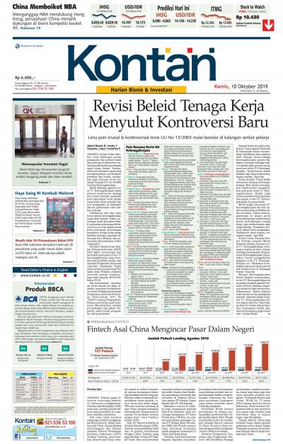 Kontan Harian - 10 Oktober 2019