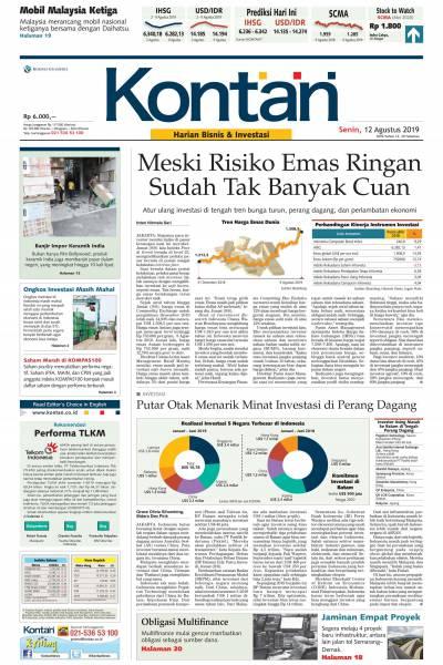 Kontan Harian - 12 Agustus 2019
