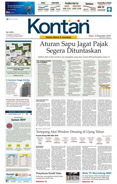 Kontan Harian - 04 Desember 2019