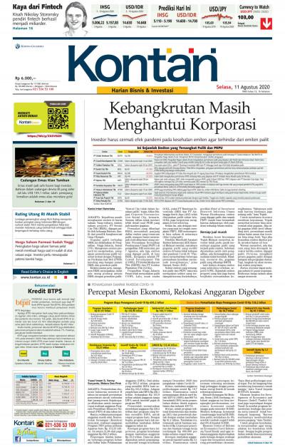 Kontan Harian - 11 Agustus 2020