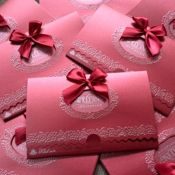 Thiệp cưới Ts27 giấy nhũ cao cấp