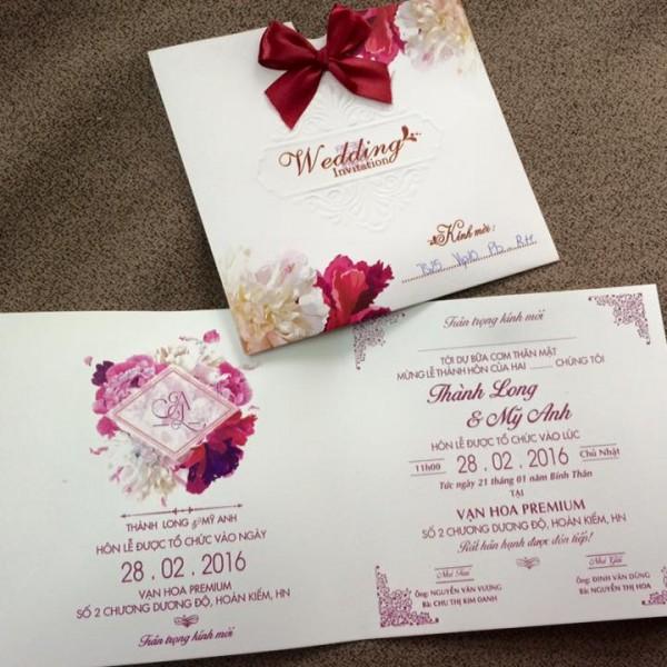 Thiệp cưới hiện đại TS25