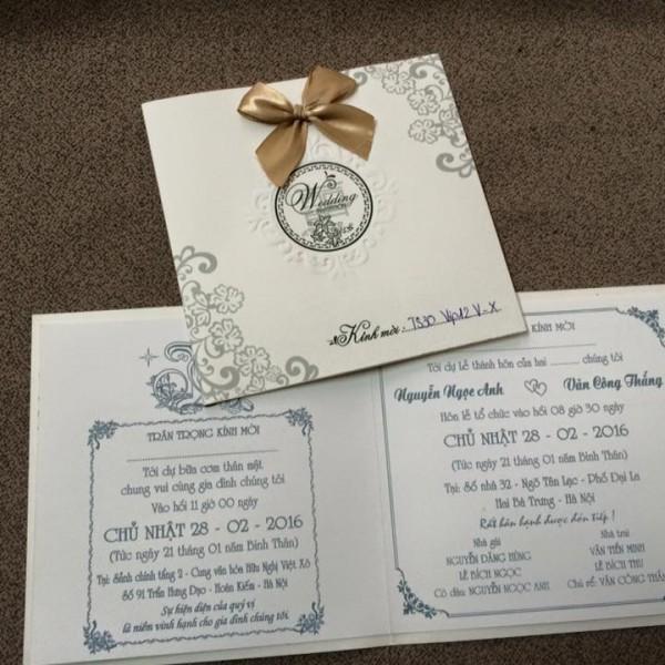 Thiệp cưới sang trọng mới TS30