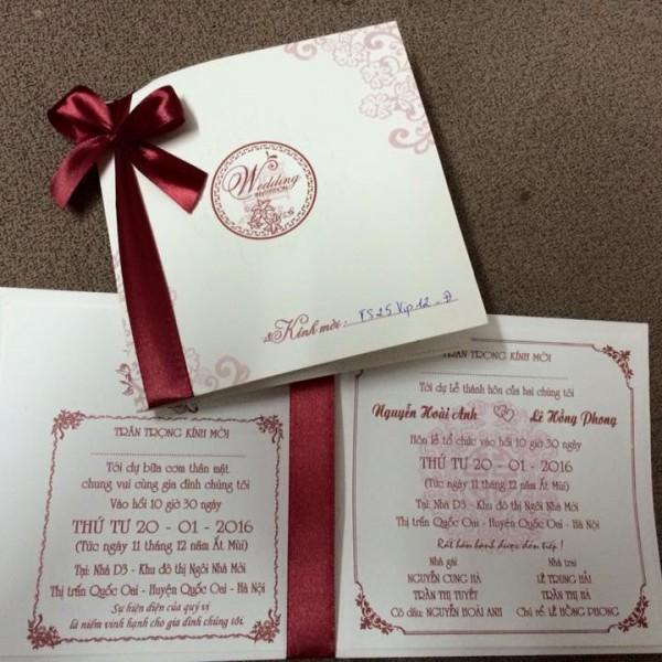 Thiệp cưới hiện đại mới TS25 Vip