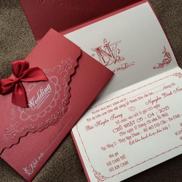 Thiệp cưới cao cấp mới TS32