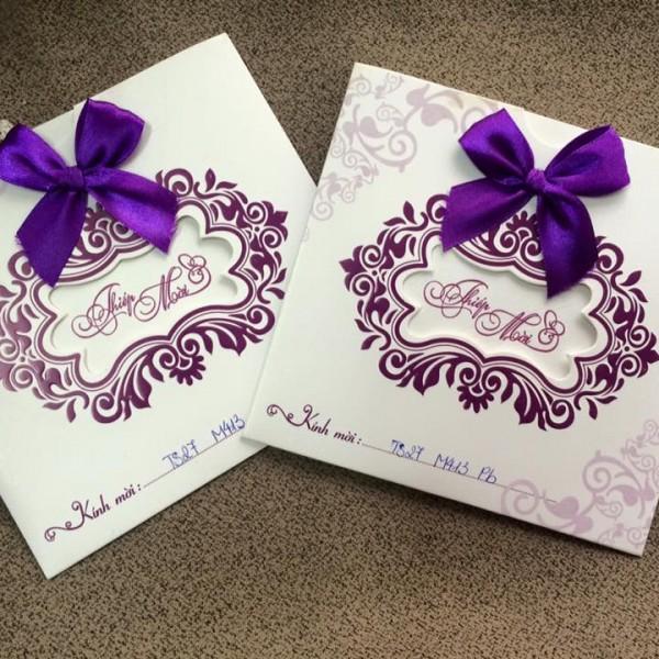 Thiệp cưới cao cấp phong bì TS27