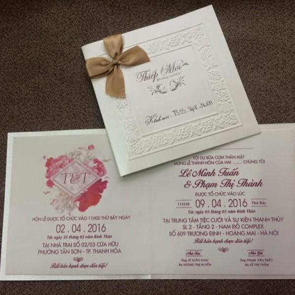 Thiệp cưới cao cấp mới lạ TS35