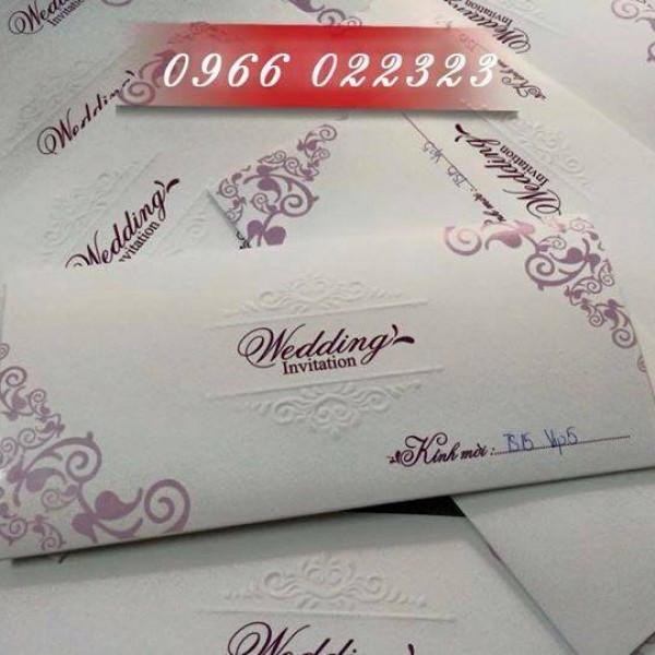 Thiệp cưới giá rẻ mới