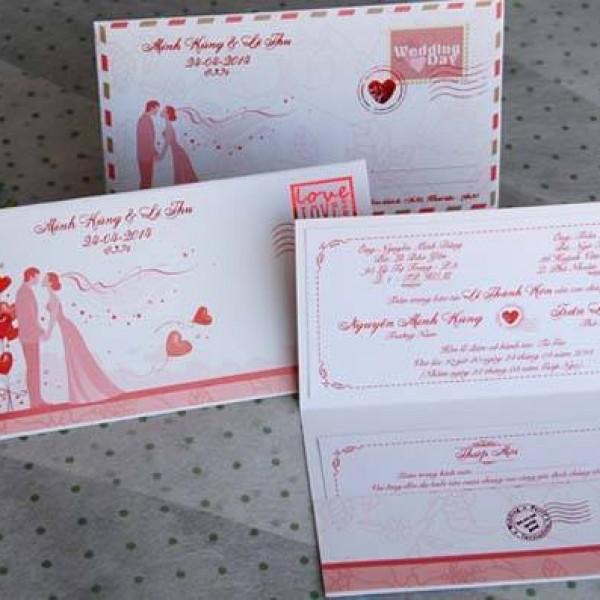 Thiệp cưới độc đáo kiểu phong thư