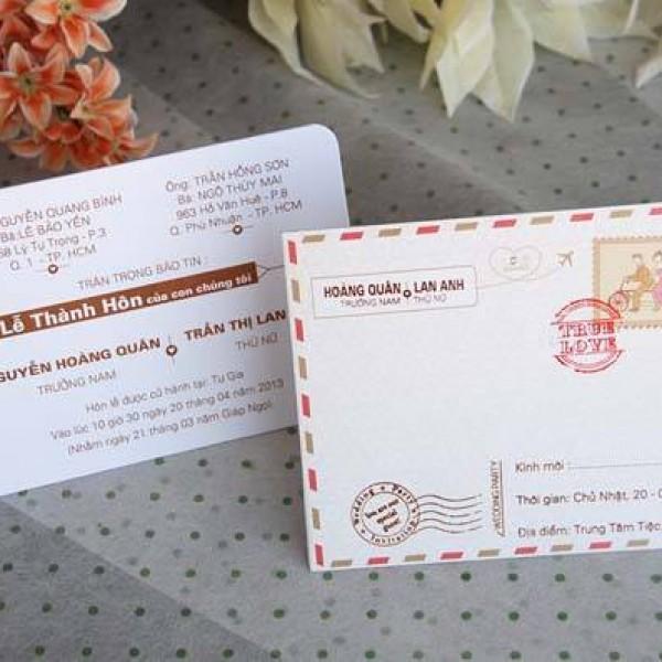 Thiệp cưới hiện đại mới DQ1418