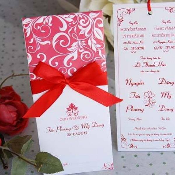 Thiệp cưới cá tính mới DQ 1305