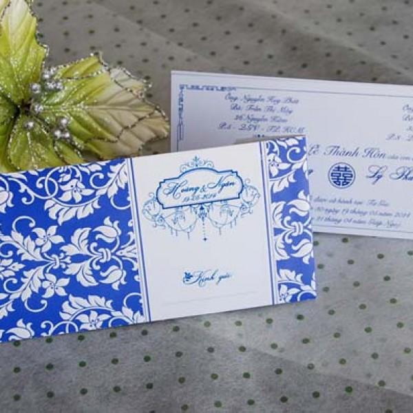 Thiệp vân hoa nổi DQ 1406