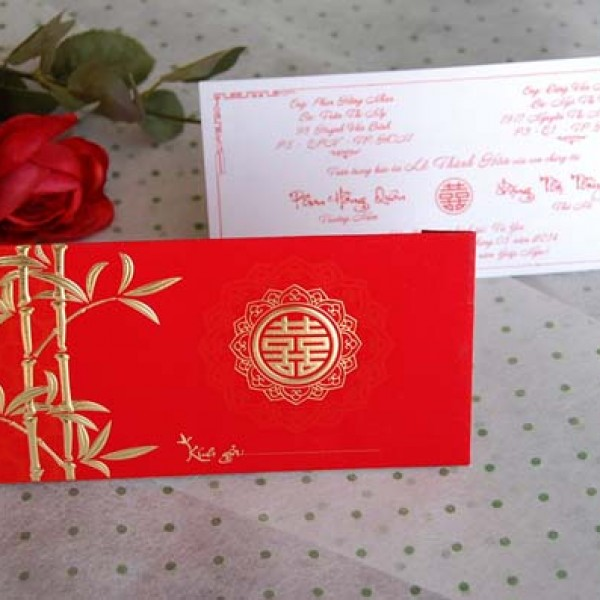 Thiệp 3D đỏ nhung DQ 1408