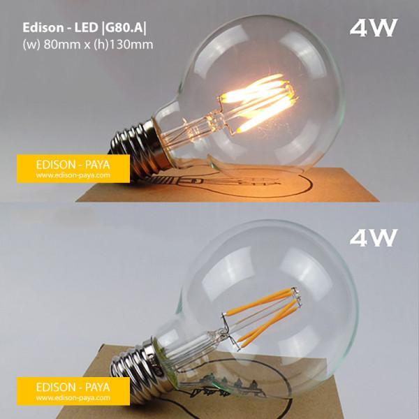Bóng Led giả Edison G80-4W