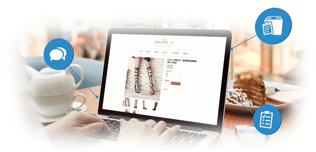 Easily use all the ecommerce features