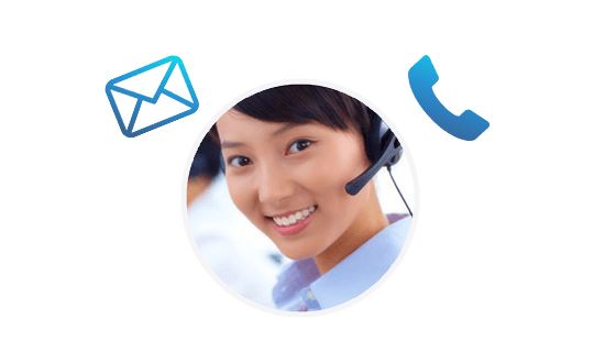 email, live chat, and telephone support
