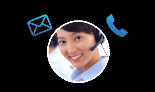 電郵及電話支援