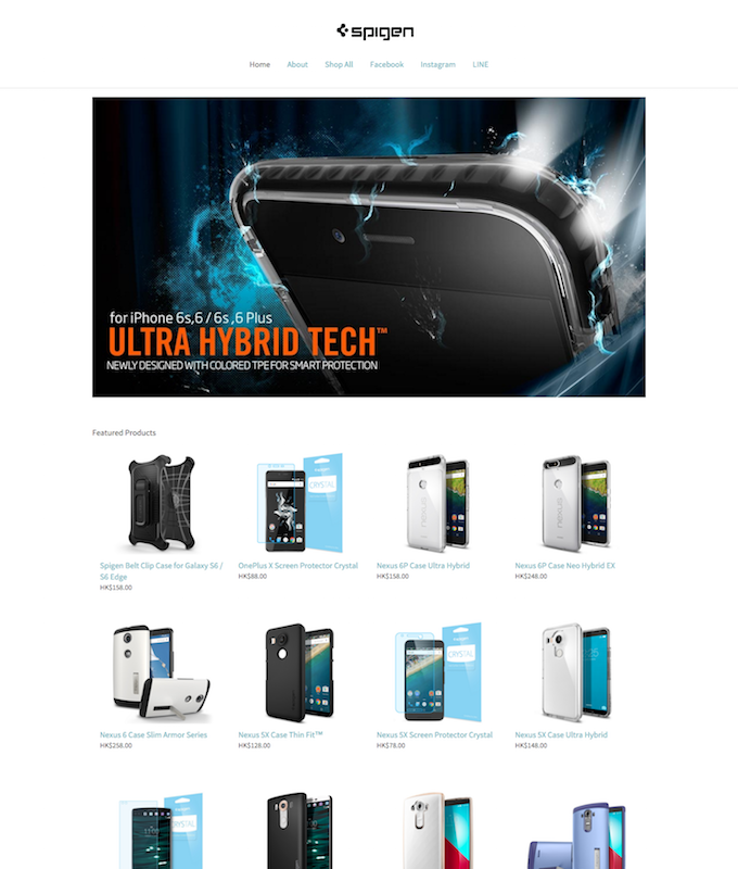 merchant showcase spigen