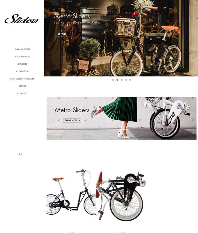 merchant showcase Sliders Bicycles